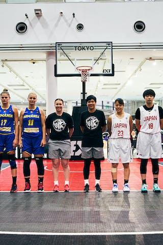 24 Ancuţa Stoenescu (ROU) - 21 Ruxandra-diana Chis (ROU) - 17 Alexandra Uiuiu (ROU) - 11 Gabriela Irimia (ROU) - 23 Mai Yamamoto (JPN) - 18 Sayako Ozaki (JPN) - 17 Nanami Seki (JPN) - 16 Todo Nanako (JPN) - Game6_Pool A_Japan U23 vs Romania