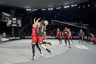 FIBA 3x3, World Tour 2021, Mtl, Can, Esplanade Place des Arts. SF Ub vs Princeton