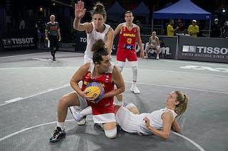 10 Aitana Cuevas (ESP) - FIBA 3x3, World Tour 2021, Mtl, Can, Esplanade de la Place des Arts. Women final Spain vs Austria