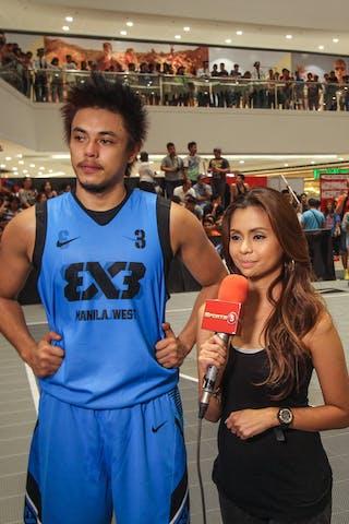 #3 Romeo Terrence Bill, Team Manila West, giving an interview, FIBA 3x3 World Tour Tokyo Final 2014, 11-12 October