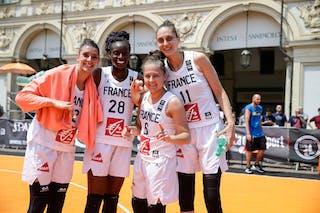 28 Migna Touré (FRA) - 12 Laetitia Guapo (FRA) - 6 Caroline Hériaud (FRA) - 11 Ana Maria Filip (FRA)