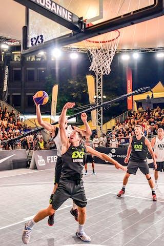 5 Nikola Vukovic (SRB) - 4 Lazar Rasic (SRB) - 6 Oliver Vogt (SUI) - 3 Marco Lehmann (SUI) - Zemun v Lausanne, 2016 WT Lausanne, Pool, 26 August 2016
