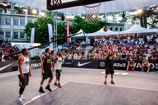 5 Yino Martinez (SUI) - 4 Derrick Lang (SUI) - 6 Sergio De La Fuente (ESP) - Lausanne v Valladolid, 2016 WT Lausanne, Pool, 26 August 2016