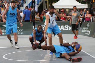 6 Stefan Kojic (SRB) - 6 Edis Dervisevic (USA) - 4 Chris Hooper (USA) - 3 David Seagers (USA) - Liman vs NY Harlem at FIBA 3x3 Saskatoon 2017