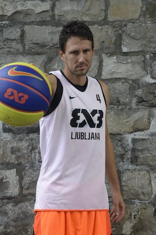 #4 Kunc Ales, Team Ljubljana, FIBA 3x3 World Tour Lausanne 2014, 29-30 August.