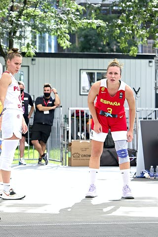 FIBA 3x3, World Tour 2021, Montréal, Canada, Esplanade de la Place des Arts. Women  POLAND VS SPAIN