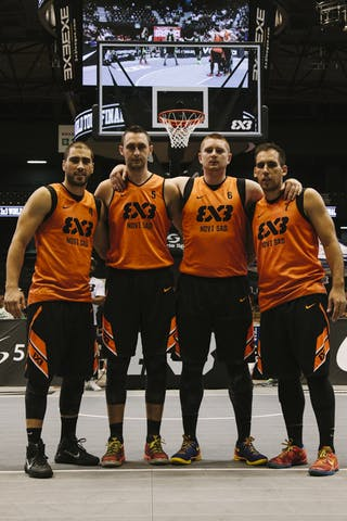 Team Novi Sad, team photo, FIBA 3x3 World Tour Final Tokyo 2014, 11-12 October.