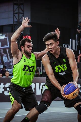 6 俊杰 Jun Jie 李 Li (CHN) - 3 Constantin Kodsi (LIB) - Beirut v Jinan, 2016 WT Beijing, Pool, 16 September 2016
