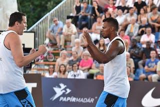 7 Gustavo Bracco (BRA) - 6 Leandro Souza De Lima (BRA) - São Paulo DC v Amsterdam, 2016 WT Debrecen, Pool, 7 September 2016