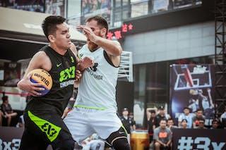 4 Marko Zdero (UAE) - 3 Zhanyu Wang (CHN) - Novi Sad AlWahda v Zheng Zhou, 2016 WT Beijing, Pool, 16 September 2016
