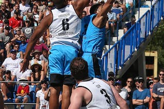 3 Jorge Matos (PUR) - 6 Nolan Brudehl (CAN) - Saskatoon vs Gurabo in the FIBA 3x3 World Tour Saskatoon 2017 semi final