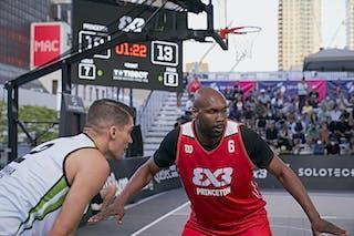 FIBA 3x3, World Tour 2021, Mtl, Can, Esplanade de la Place des Arts. Men Princeton vs. Omaha