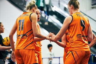 18 Fleur Kuijt (NED) - 11 Jill Bettonvil (NED) - 9 Esther Fokke (NED) - 3 Loyce Bettonvil (NED) - Game3_Japan U23 vs Netherlands