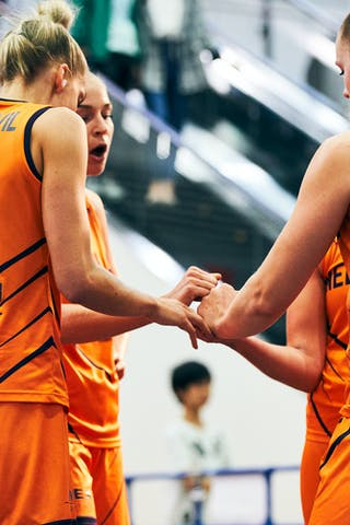 18 Fleur Kuijt (NED) - 11 Jill Bettonvil (NED) - 9 Esther Fokke (NED) - 3 Loyce Bettonvil (NED) - Game3_Japan U23 vs Netherlands