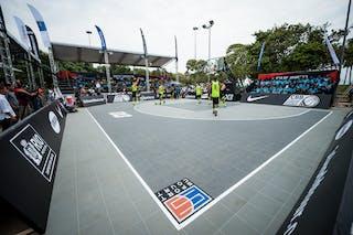 Court view, FIBA 3x3 World Tour Rio de Janeiro 2014, Day 2, 28. September.