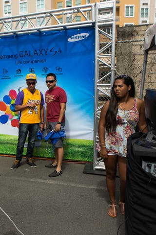 Samsung photo booth at the San Juan Masters 10-11 August 2013 FIBA 3x3 World Tour, San Juan, Puerto Rico