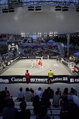 FIBA 3x3, World Tour 2021, Mtl, Can, Esplanade de la Place des Arts. Women final Spain vs Austria