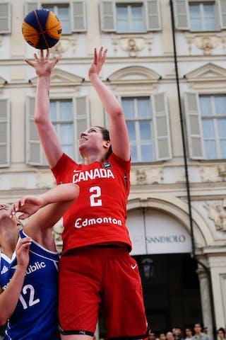 2 Katherine Plouffe (CAN) - 12 Klára Marečková (CZE)