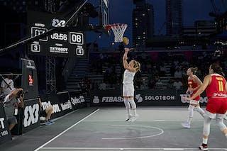 13 Simone Sill (AUT) - FIBA 3x3, World Tour 2021, Mtl, Can, Esplanade de la Place des Arts. Women final Spain vs Austria
