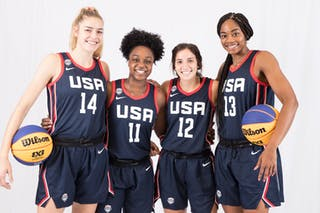 13 Charli Collier (USA) - 14 Bella Alarie (USA) - 12 Aleah Goodman (USA) - 11 Christyn Williams (USA)