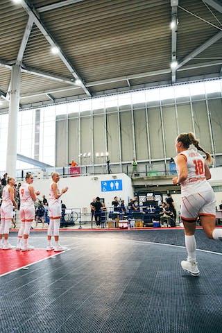 3 Loyce Bettonvil (NED) - 9 Esther Fokke (NED) - 11 Jill Bettonvil (NED) - 18 Fleur Kuijt (NED) - Game1_Mongolia vs Netherlands