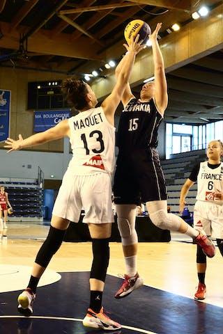 15 Monika Krajcovicova (SVK) - 13 Sixtine Macquet (FRA)