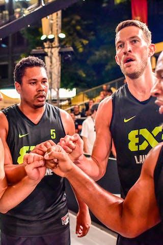 6 Oliver Vogt (SUI) - 4 Derrick Lang (SUI) - 5 Yino Martinez (SUI) - 3 Marco Lehmann (SUI) - Zemun v Lausanne, 2016 WT Lausanne, Pool, 26 August 2016