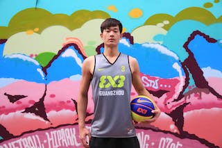 #3 Qiujie Chen, Team Guangzhou, FIBA 3x3 World Tour Beijing 2014, 2-3 August.