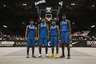 Team Kobe, team photo, FIBA 3x3 World Tour Final Tokyo 2014, 11-12 October.