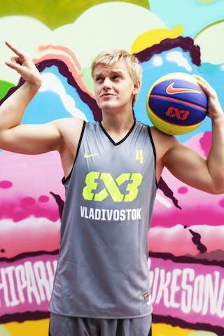 #4 Tcvetinskii Segei, Team Vladivostok, FIBA World Tour Beijing 2014, 2-3 August.