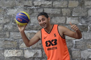 #5 Hemdani Firas, Team Monastir, FIBA 3x3 World Tour Lausanne 2014, 29-30 August.