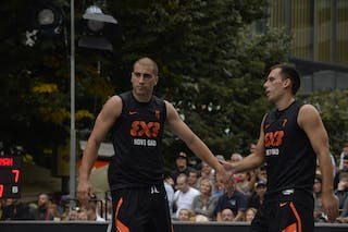 #4 Domovic Bulut and #7 Marko Zdero. Team Novi Sad. 2014 World Tour Prague. 3x3 Game. 23 August. Day 1.