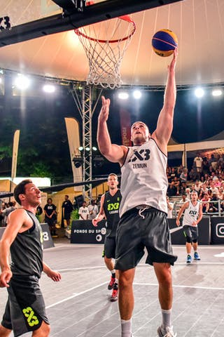 6 Oliver Vogt (SUI) - 4 Lazar Rasic (SRB) - 5 Nikola Vukovic (SRB) - 3 Marco Lehmann (SUI) - Zemun v Lausanne, 2016 WT Lausanne, Pool, 26 August 2016