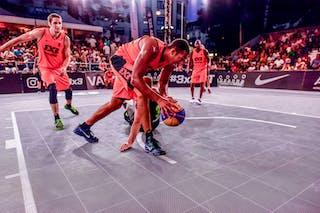 4 Willie Murdaugh (CAN) - 3 Rok Smaka (SLO) - 5 Michael Lieffers (CAN) - 6 Nolan Brudehl (CAN) - Saskatoon v Maribor, 2016 WT Lausanne, Pool, 26 August 2016