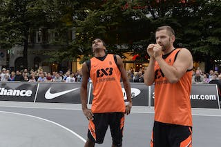 #5 Alex Abrikosov & #6 Leo Lagutin. Team St Petersburg. 2014 World Tour Prague. 3x3 Game.
