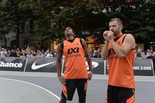 #5 Alex Abrikosov & #6 Leo Lagutin. Team St Petersburg. 2014 World Tour Prague. 3x3 Game.