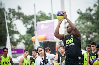 #5 Pereira Fejao, Team Sao Paulo DC, shoot-out contest, FIBA 3x3 World Tour Rio de Janeiro 2014, Day 2, 28. September.