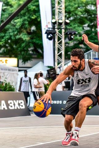 5 Dusan Sisic (SRB) - 6 Vladimir Bulatovic (SRB) - 2 Gionata Zampolli (ITA) - Pavia v Obrenovac, 2016 WT Lausanne, Pool, 26 August 2016