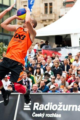 #4 Dusan Domovic Bulut. Team Novi Sad. 2014 World Tour Prague. 3x3 Game. 24 August. Day 2.