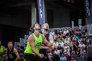 5 Jordan Demercy (CHN) - 5 Rory Fannon (NZL) - Auckland v Wukesong, 2016 WT Beijing, Pool, 17 September 2016