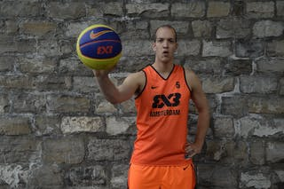 #5 Trommelen Sander, Team Amsterdam, FIBA 3x3 World Tour Lausanne 2014, 29-30 August.