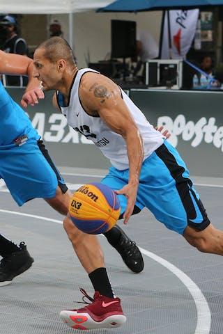 6 Roman Zachrla (CZE) - 3 Inderbir Singh Gill (JPN) - Hamamatsu vs Humpalec at FIBA 3x3 Saskatoon 2017