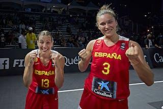 13 Sandra Ygueravide (ESP) - 3 Marta Canella (ESP) - FIBA 3x3, World Tour 2021, Mtl, Can, Esplanade de la Place des Arts. Women final Spain vs Austria