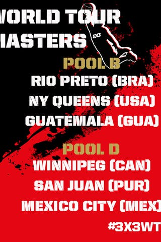 2014 FIBA 3x3 World Tour runners-up Saskatoon (CAN) will have their hands busy in the pool phase of the 2015 FIBA 3x3 World Tour Mexico DF Masters on 9 September.