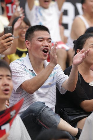 Fans, 2014 World Tour Beijing, 3x3game, 2-3 August.