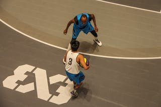 View on players from above, 2014 World Tour Manila, 3x3, 20. July.