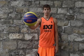 #4 Finzgar Simon, Team Trbovlje, FIBA 3x3 World Tour Lausanne 2014, 29-30 August.