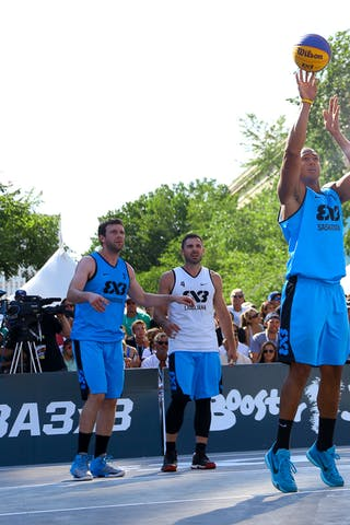 4 Jasmin Hercegovac (SLO) - 3 Steve Sir (CAN) - 5 Michael Lieffers (CAN) - Ljublijana vs Saskatoon in the FIBA 3x3 World Tour Saskatoon 2017 final
