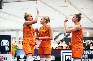 9 Esther Fokke (NED) - 3 Loyce Bettonvil (NED) - 11 Jill Bettonvil (NED) - Game5_Final_Netherlands vs Australia