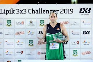 (Lipik Challenger 2019), price ceremony Danilo Mijatovic, MVP